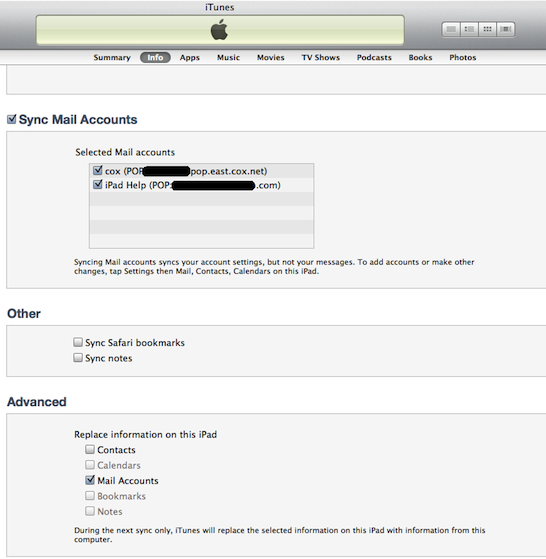 how to add emil accounts to ipad