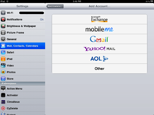 how to change gmail picture in ipad