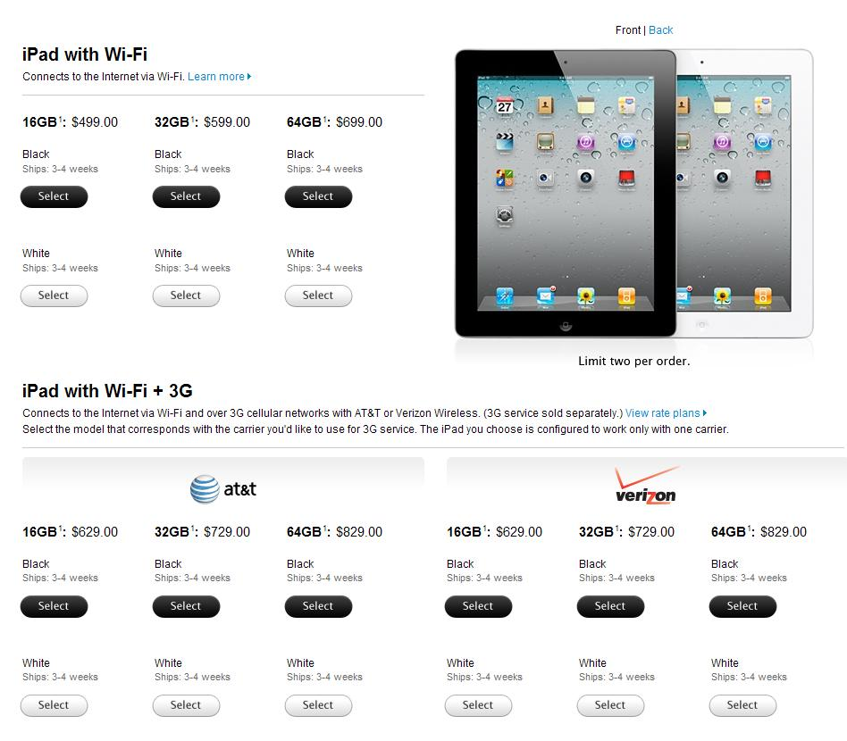 Apple Releases Official IPad 2 Launch Details