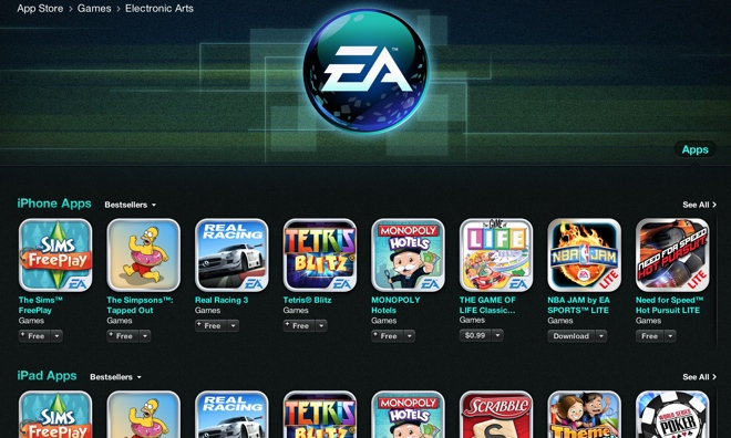 Electronic Arts biggest iOS game sale ever!