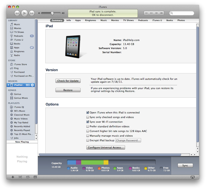 how to sync your iphone with itunes wirelessly wi fi