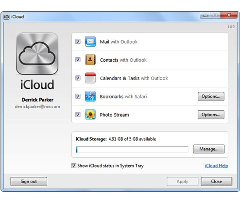 1x1.trans How to set up iCloud on Windows