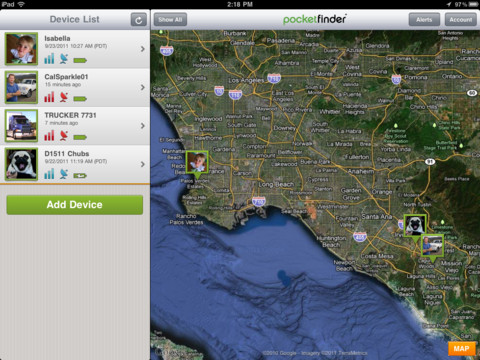 Pocket finder app
