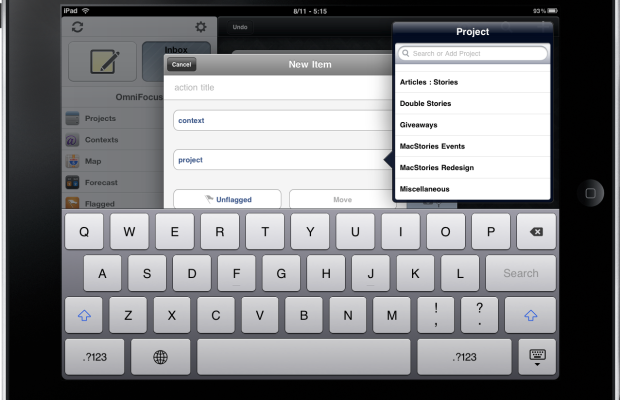 OmniFocus for iPad - Move