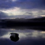 iPad Retina HD Wallpaper Boat in a Lake