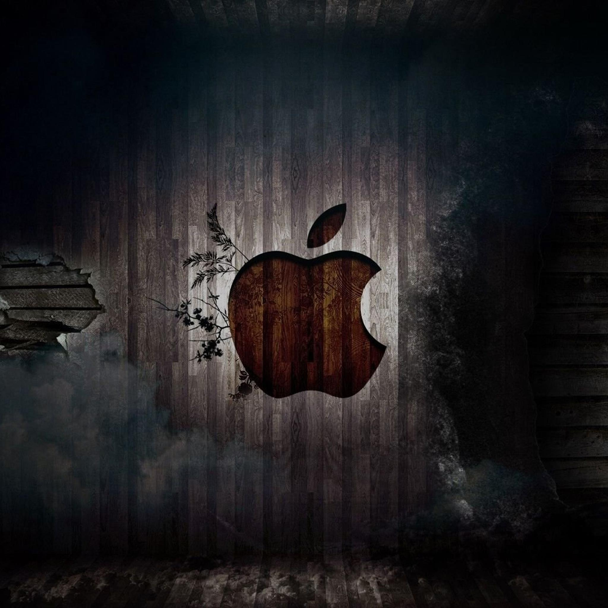 IPad Retina HD Wallpaper Apple In Wood