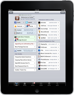 Cydia iPad Tweaks