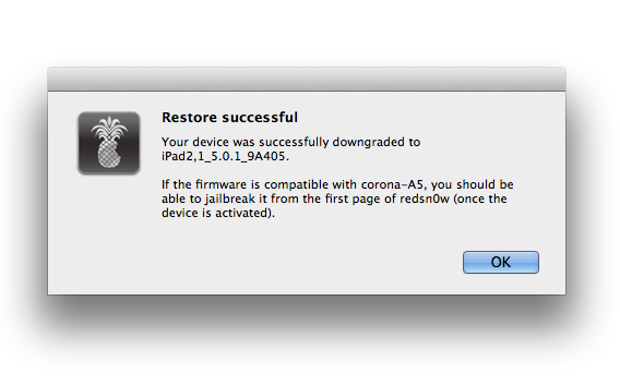 Restore Successful