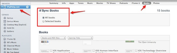 tap on collections select pdfs and view your files on your ipad
