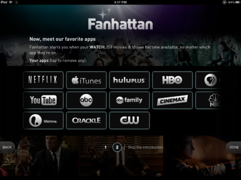 fanhattan iPad app