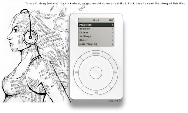 Use an original iPod in a web browser
