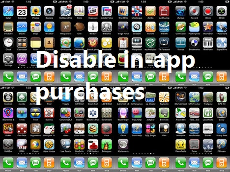Disable in-app purchases on iPad, iPhone or iPod touch