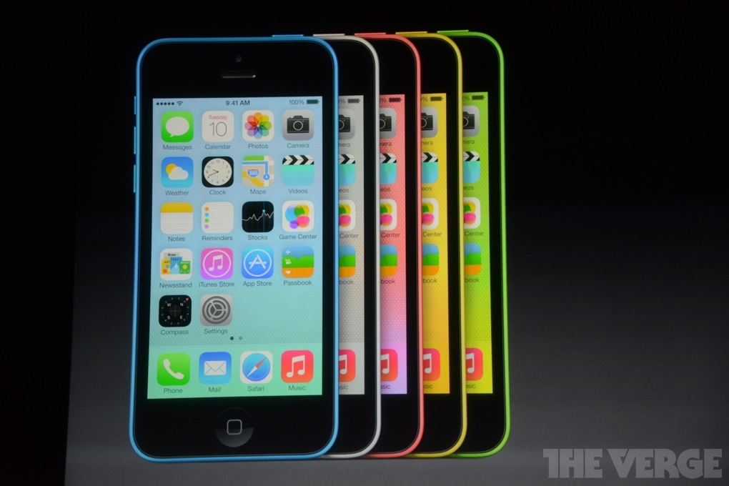 iPhone 5C all colours