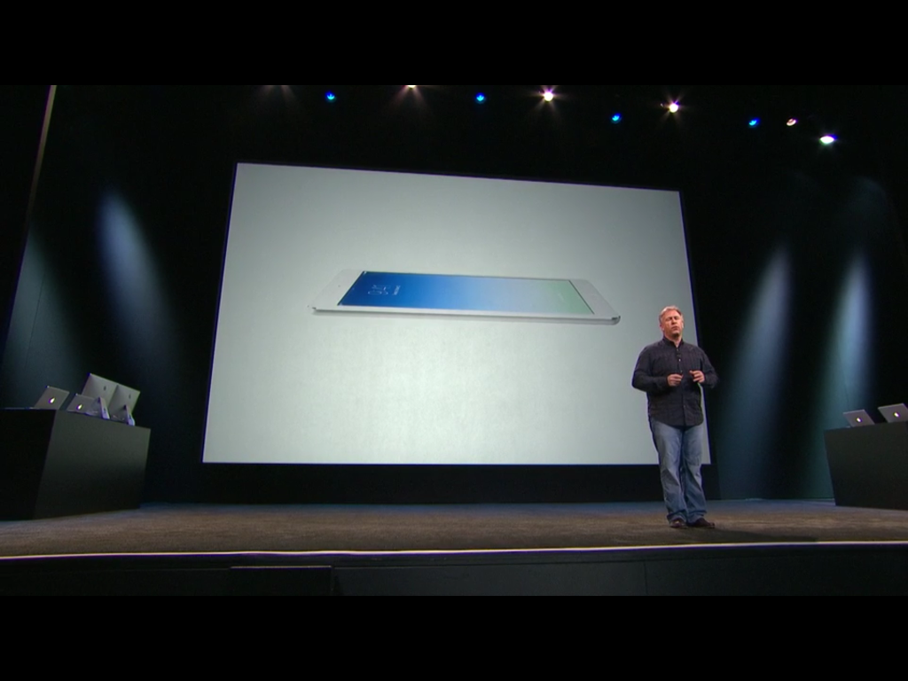 Apple event showcasing iPad Air