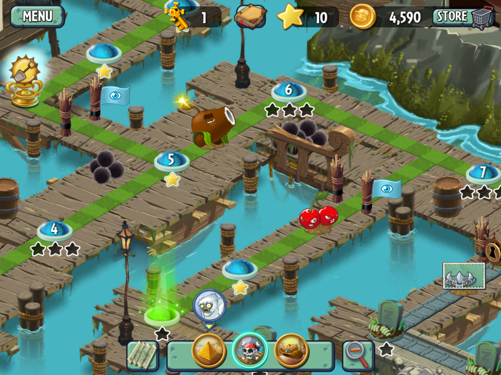 Plants vs Zombies 2 Pirate Levels