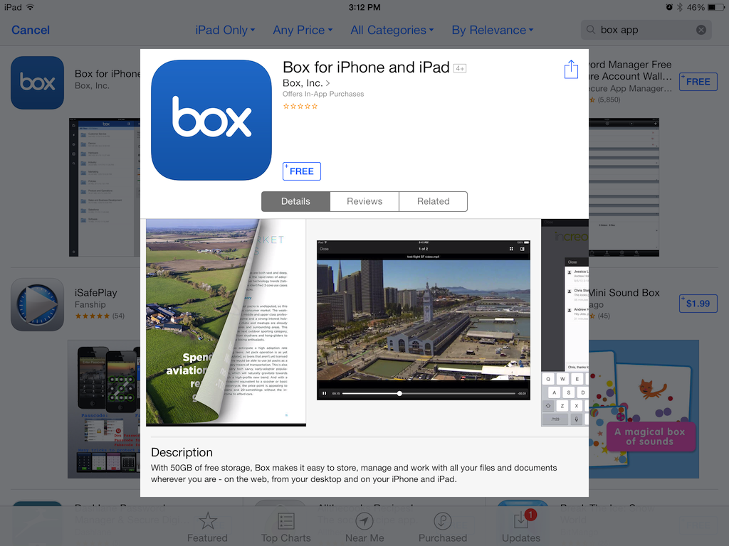 Box App at the App Store