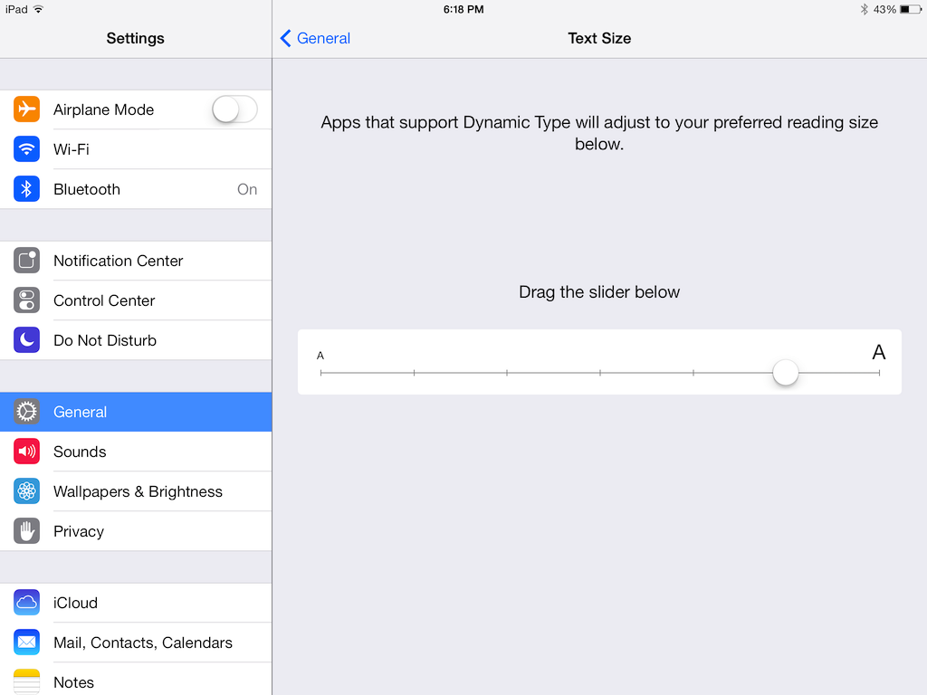 Seeing Big: How To Increase Text Size in iOS 7