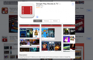Google Play Movies & TV app now available on iOS