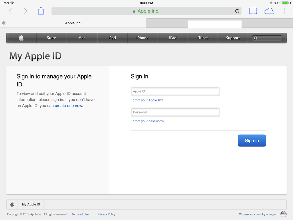 How to change apple id questions on ipad