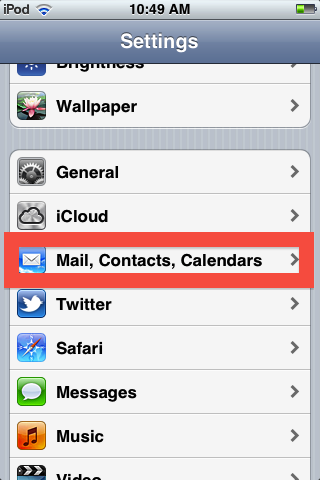 To modify your email signature, go into settings, then mail