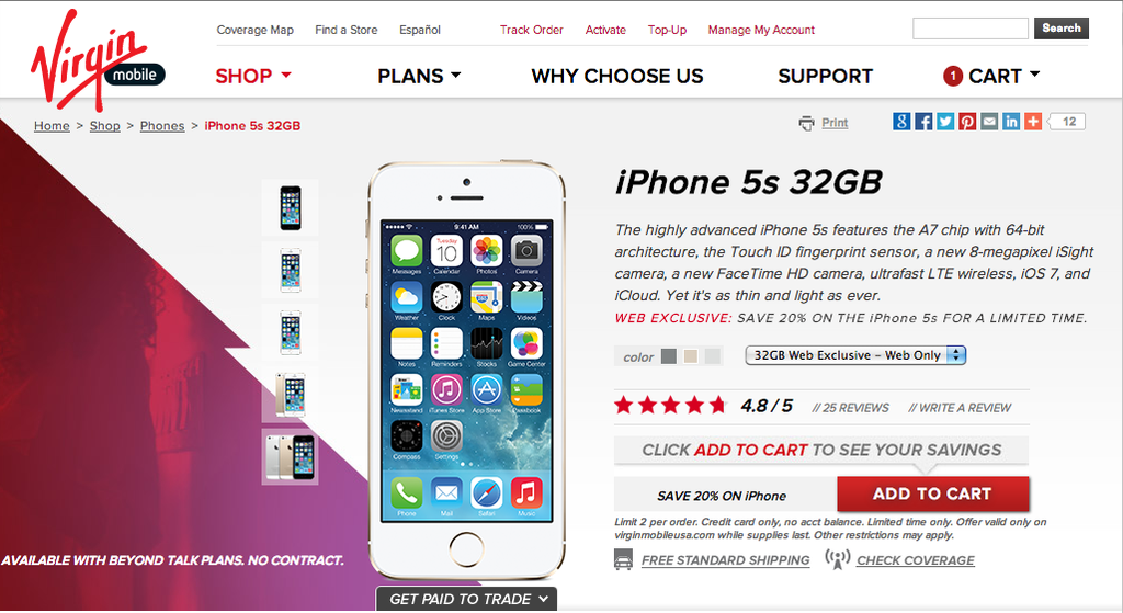 Virgin Mobile iPhone 5s deal provides a nice surprise