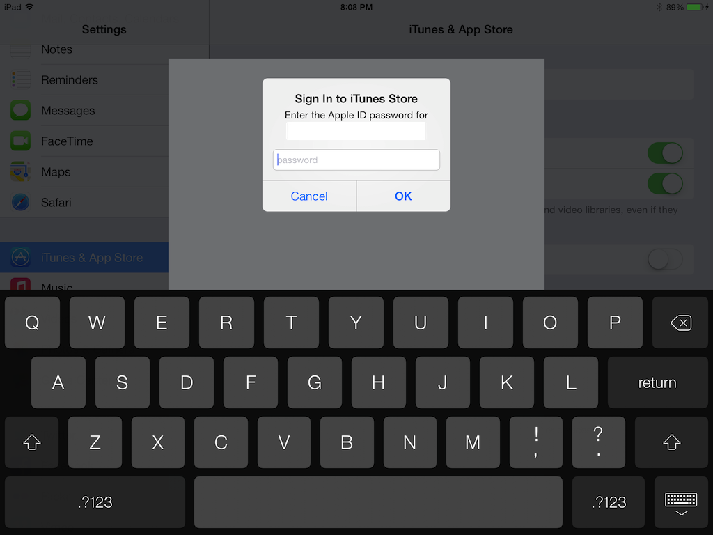will select the Apple ID