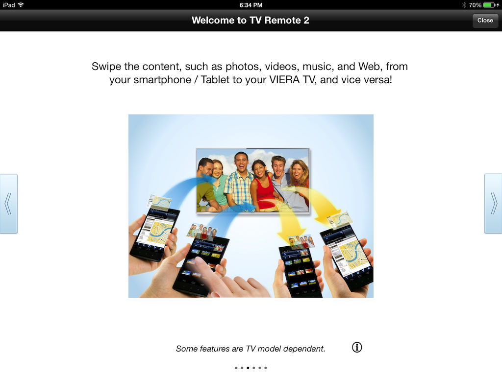 iPad app for Panasonic Smart TV