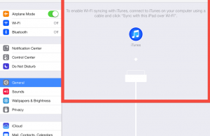 To sync your iPhone and iPad, go to iTunes Wi-Fi sync in your general settings tab