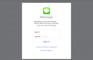 sign in to iMessage to link your iPhone and iPad