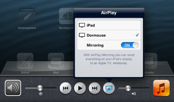 ipad airplay mirrioring