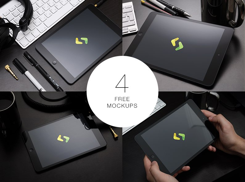 10 Free iPad Mockup PSD in High Resolution for Download 2016