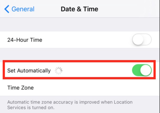 do iphones automatically change time zones iphone battery percentage getting stuck or not updating on 18380