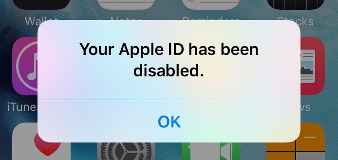 Apple Id Has Been Disabled Iphone