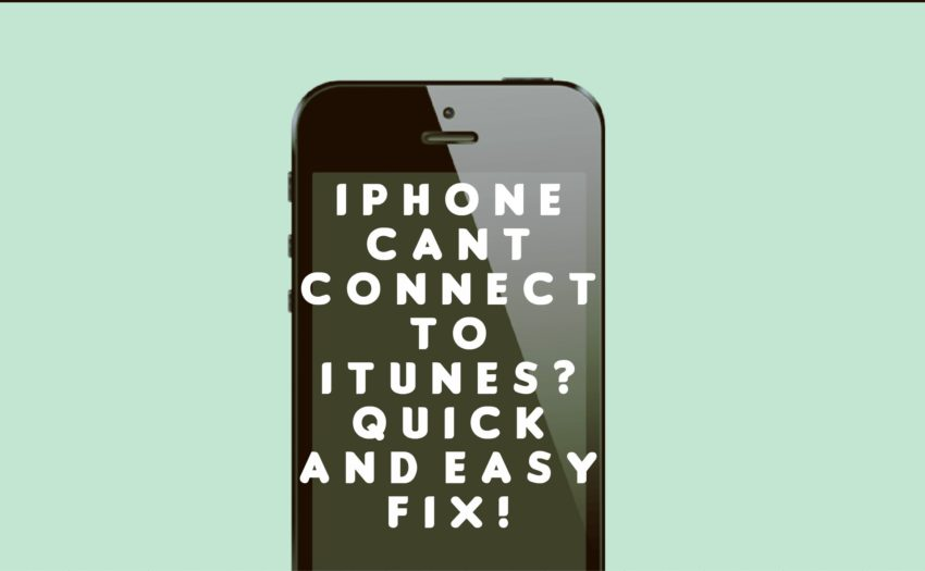 itunes wont connect to iphone